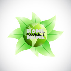 green earth home sweet home illustration design