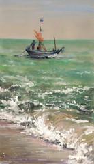 Fishing boat -watercolors