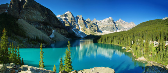 Foto auf Acrylglas Kanada Lake Moraine, Banff national park