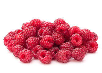 Fototapete - Sweet raspberry isolated on white background cutout