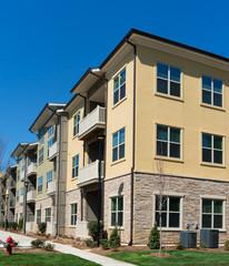 Apartment complex exterior detail