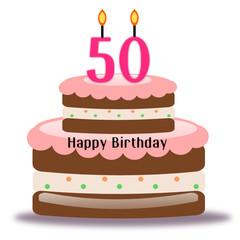 Torta di compleanno per i 50 anni