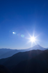 櫛形山からの富士山