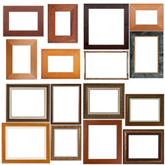Set of wooden frames