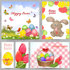 Collection Easter Greeting Cards.