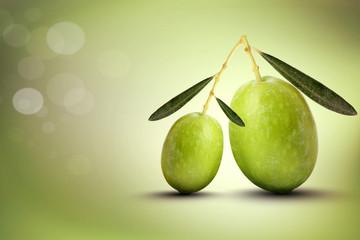 Fototapete - Oliva grande e oliva piccola