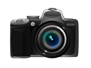isolated own design camera ready to snapshot vector
