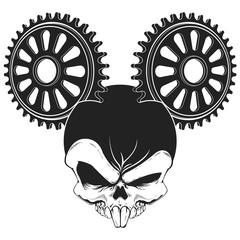 BMX Rat Skull Sproket Ears Design