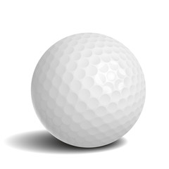 Wall Mural - Golf ball with shadow