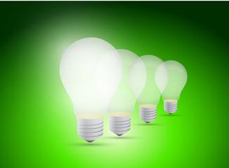 light bulb great idea illustration design
