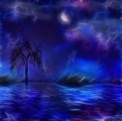 Paintertly nightscape