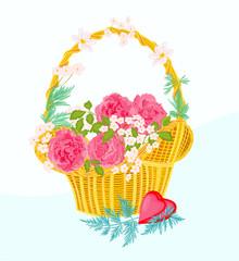 Flower cupcake greeting cards
