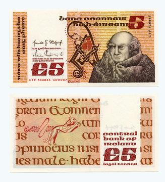 Ireland 5 pounds 1976