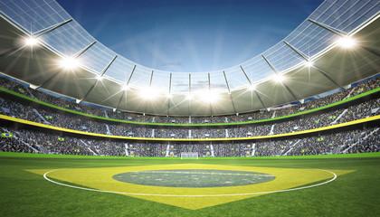 Wall Mural - Stadion Brasil Mittellinie