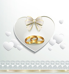 Romantic postcard for wedding day