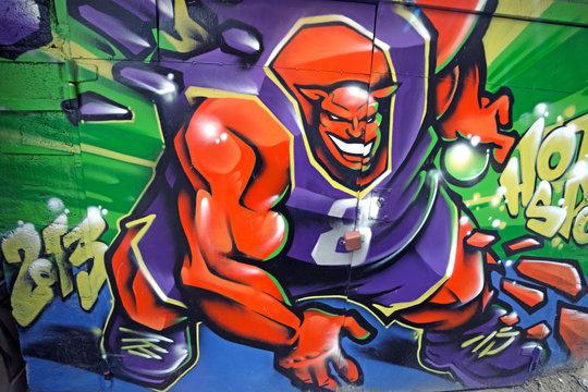 Basketball monster graffiti