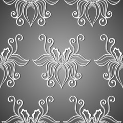 Seamless Floral Pattern. Hand Drawn Texture with Flowers