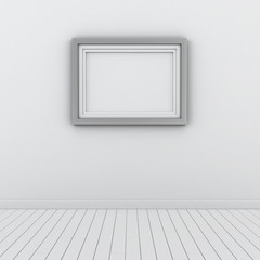 Modern frame on the wall
