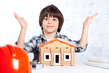 boy built a new house