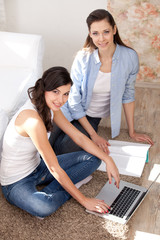 Two girls and a laptop