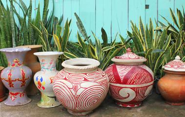 pottery clay pots decoration