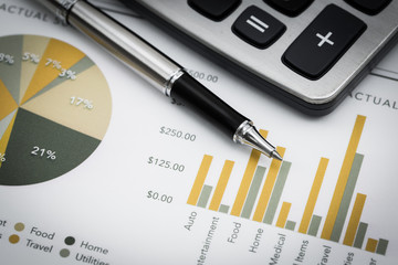 Showing business and financial report
