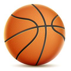 Isolated On White Orange Basketball.
