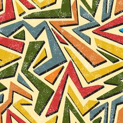 Absract graffiti seamless pattern. Vector