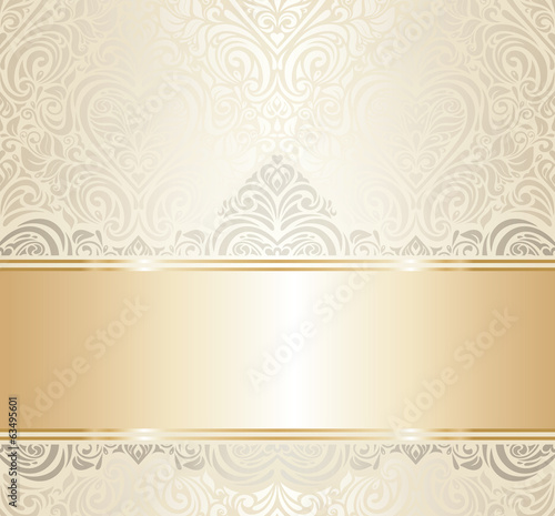 Quot White Amp Gold Vintage Invitation Luxury Background Design