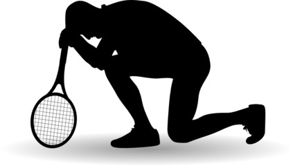 tennis player disappointed