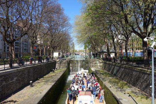 Ecluse du Canal Saint Martin à Paris