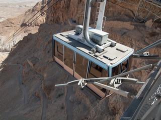 funicular in fortress Masada, Israel