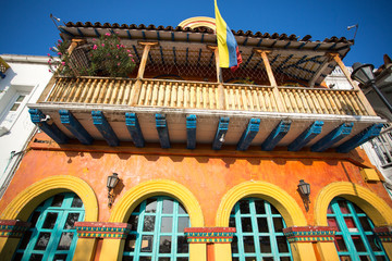 Spanish colonial colored house, cartagena