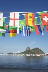 International Flag Bunting Rio de Janeiro Brazil