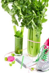 diet concept  with a celery