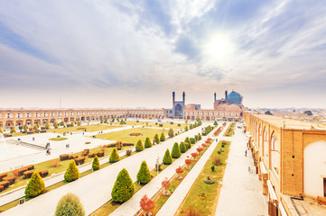 Imam Square in Naqsh-e Jahan Square, Isfahan, Iran