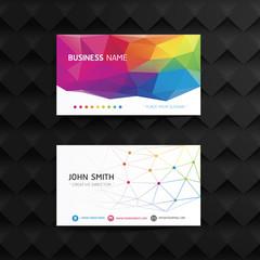 Vector modern geometric creative business card template.