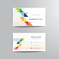 Vector modern creative business card template.