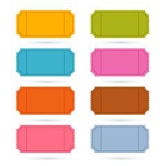 Colorful Vector Ticket Set Illustration