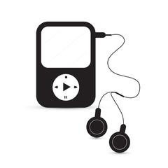 Black Vector Mp3 Player Illustration