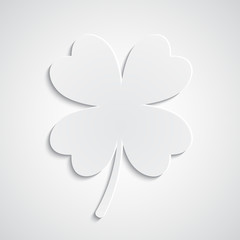 Paper clover background
