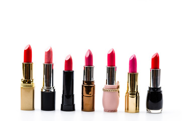 Lipstick isolated white background
