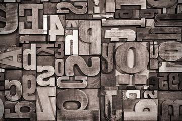 Letterpress background, grunge processing