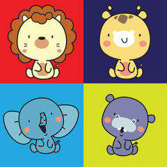 animal cute character collection
