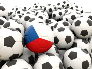 Football with flag of czech republic