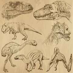 Dinosaurs no.2 - an hand drawn illustrations, vector set