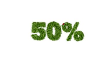 50% discount sale icon