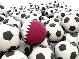 Football with flag of qatar