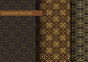 Thailand Basic Seamless Pattern Style