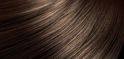 Brown Hair Blowing Closeup